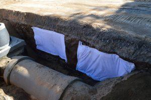 As sepulturas foram identificadas no talude da vala