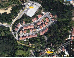 Intervenção na Estrada de Monte Santos, em Sintra