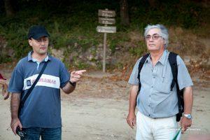 Os incansáveis frof's e investigadores que animaram esta caminhada, cheia de História, Carlos Albuquerque e Rui Oliveira