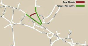 Aviso - Corte de trânsito Godigana - 16-11-2016